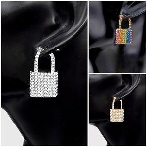 BRAND NEW Crystal lock earrings